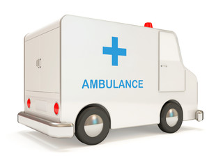 Ambulance Car on white background