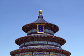 Detail of roof in Temple of Heaven,Beijing, China