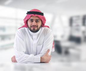 arabian business man / executive in his office