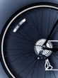 Close up of bicycle tire