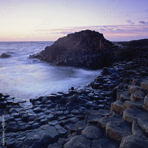 Rock formations on beach