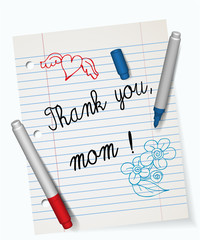 Thank you mom, Happy Mother´s day greeting card