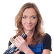 Frau mit Bohrmaschine - woman with drill