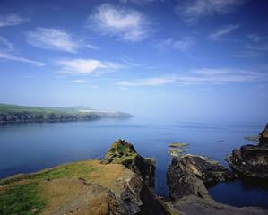 Rocky cliffs overlooking ocean