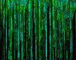 Matrix Letter code by the long green.