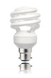 Energy Saving Lightbulb with Bayonet Bottom Isolated
