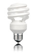 Saver Lightbulb with Screw bottom Isolated