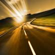 light beams in road