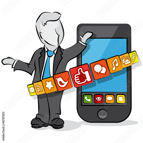 businessman & social media
