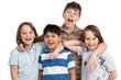 glückliche kindergruppe
