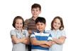 glückliche gruppe kinder