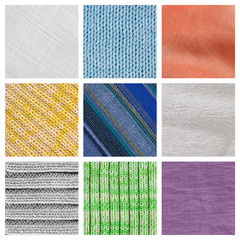Collection fabric textured background  (high resolution)