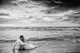 Fototapete Paar - Bewölkung - Wasser / Strand