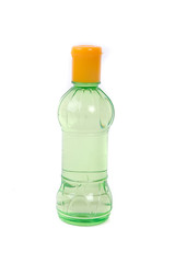 a small green plastic bottle