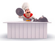 Happy Chef cooking vegetables