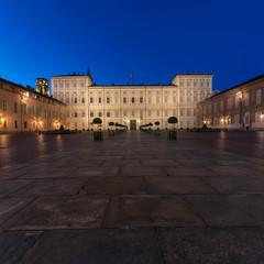 Palazzo Reale di Torino al tramonto (6) - Piazza Castello