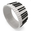 Abstract Piano Keys on white background
