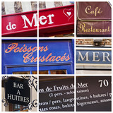 Collage restaurants de la mer à Honfleur