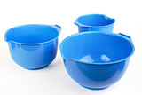 Three different size plastic kitchen bowls