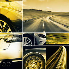 driving collage