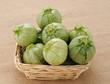 Zucchine tonde nel cestino