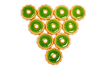 Beautiful green cookies background