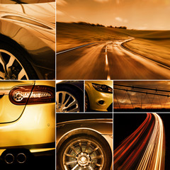 motoring collage