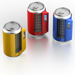 Vending machine similar on can with beverage