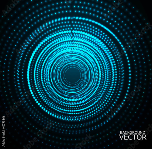 abstract Colorful dots blue disco light Vector
