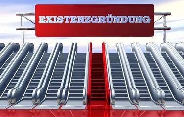 3D Rolltreppen - EXISTENZGRÜNDUNG