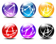 Six Spheres Balls illustration with Communication lines