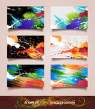 A set of Art backgrounds. Vector illustration