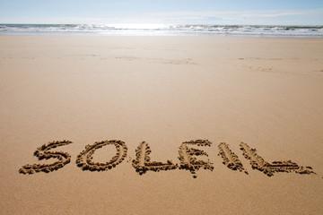 Soleil sur le sable
