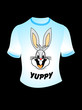 abstract t shirt with bunny