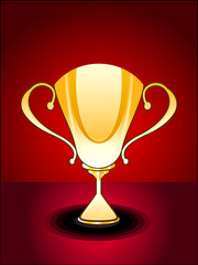 abstract glossy trophy