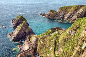 Dunquin Pier on the Dingle Peninsula in Ireland.
