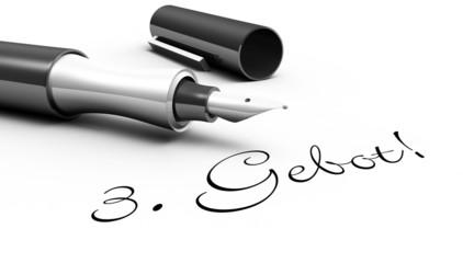 3. Gebot! - Stift Konzept