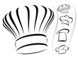 Chef hat silhouettes - vector icon set