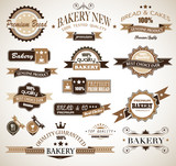 Premium collection of Bakery themed vintage style