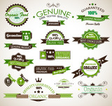 Organic and Genuine product premium labels poster