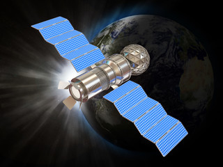 3d Illustration of Satellite in Space