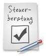 "Papier & Bleistift Illustration ""Steuerberatung"""
