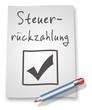 "Papier & Bleistift Illustration ""Steuerrückzahlung"""