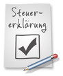 "Papier & Bleistift Illustration ""Steuererklärung"""