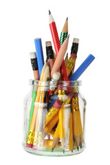 Pencils in Glass Jar