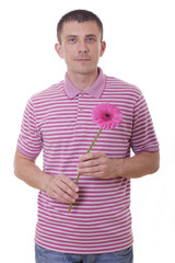 Man with flower