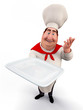 Chef holding a tray