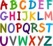 Colorful Capital Letters Alphabet