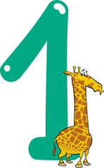 number one and giraffe