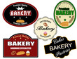 Set of bakery label